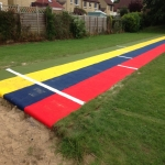 Synthetic Grass Running Track in Arkwright Town 12