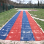 Synthetic Grass Running Track in Abertrinant 1