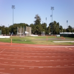 Synthetic Grass Running Track in Alton 6