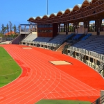Synthetic Grass Running Track in Abertrinant 2