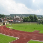 Synthetic Grass Running Track in Amalebra 11