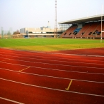 Synthetic Grass Running Track in Arkwright Town 1
