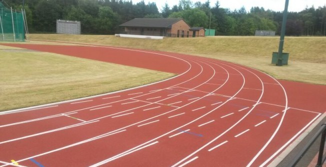 AGP Infield Running Track Installation in Dumfries and Galloway