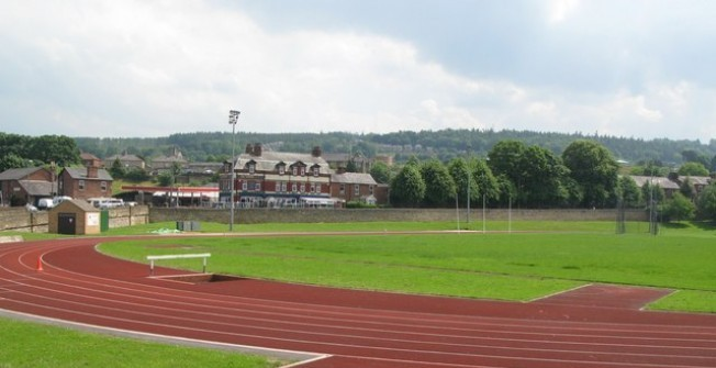 Athletics Track Infield Pitch in Arkwright Town